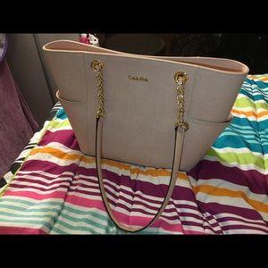 Light pink Calvin Klein's purse
